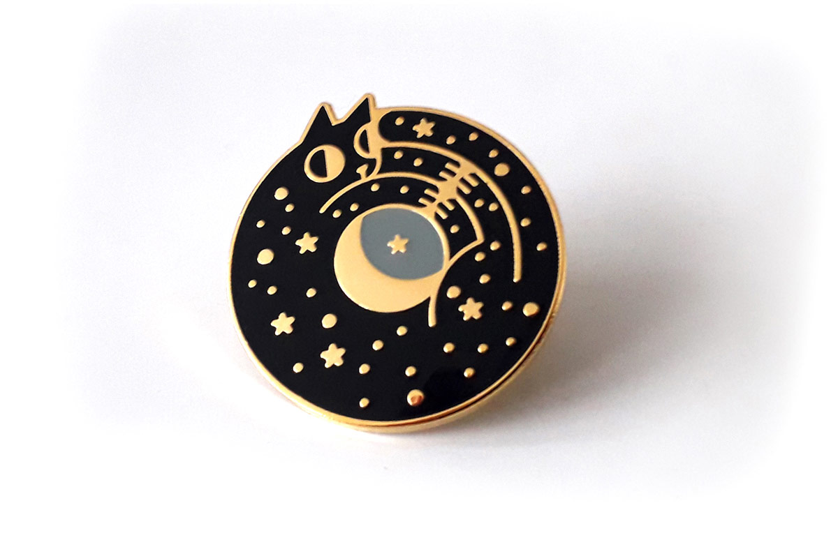 Hard enamel pins - Cosmic Cat