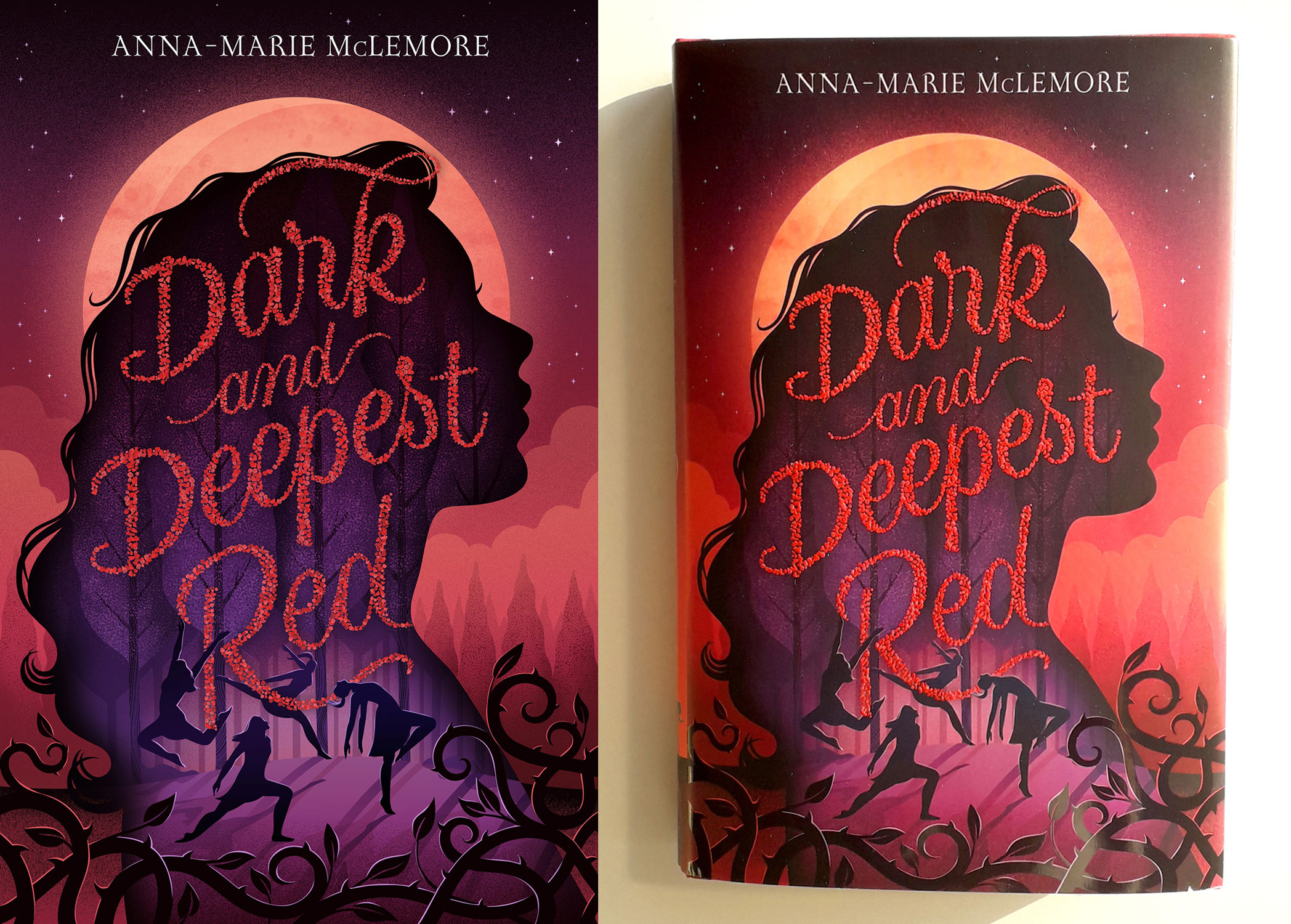 Macmillan - book jacket illustration for Dark and Deepest